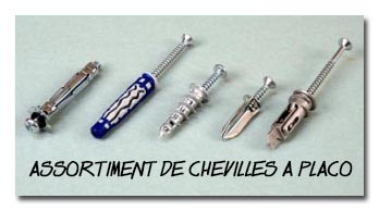 assortiment de chevilles