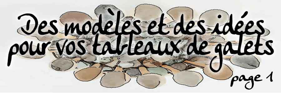 Modeles de pebble art