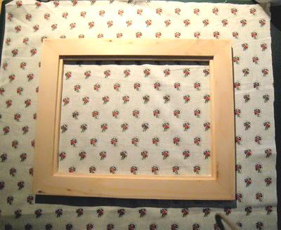 cadre recouvert avec du tissu. Black Bedroom Furniture Sets. Home Design Ideas