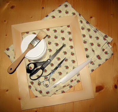Cadre recouvert avec du tissu - Cadre photo carre ikea ...