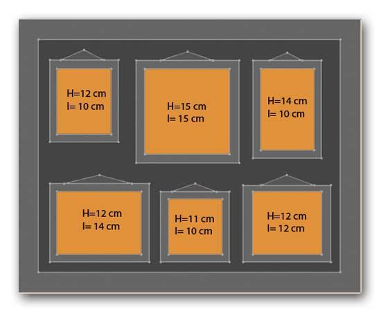 Dimension Cadre Photo : cadres de cadres multiples ~ Nature-et-papiers.com Idées de Décoration