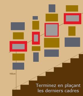 disposer des cadres dans un escalier. Black Bedroom Furniture Sets. Home Design Ideas