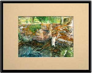 Encadrer une aquarelle passe partout et biseau - Marquise pour cadre photo ...