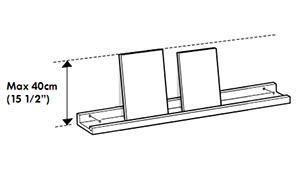 Etagere pour cadres et tableaux for Systeme de fixation etagere murale