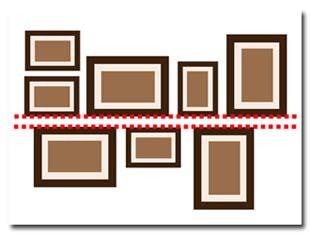 id es pour disposer et accrocher les cadres murs de tableaux. Black Bedroom Furniture Sets. Home Design Ideas