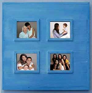 Fabriquer un cadre en bois cadre bleu 4 photos for Encadrement fenetre interieur