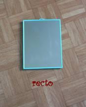 Bibby presente son cadre en carton for Attache miroir