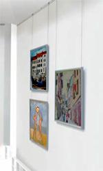 Cimaise tableaux for Accrochage tableaux au mur