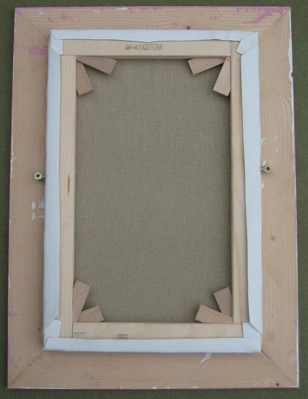 Fixer un tableau dans son cadre fixer le paquet - Cadre pour mettre plusieurs photos ...