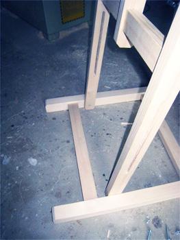 Fixation cadre verticla à la base