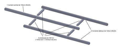 Plan du cadre haut du chevalet