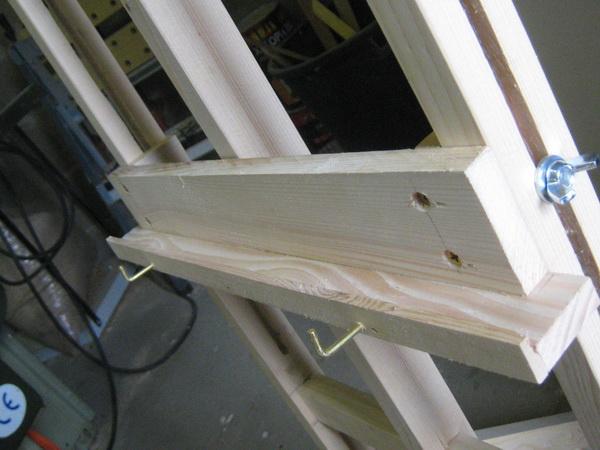 Construire un chavalet plans du chevalet for Peindre des chassis en pvc