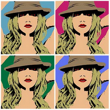 Warhol pop art Brtitney Spears